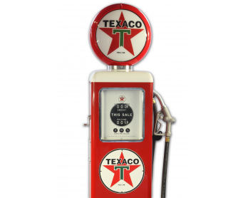 Pompe à essence Made in Usa - TEXACO rouge