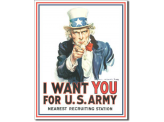 Plaque Publicitaire - I want you for Us Army