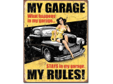 Plaque Publicitaire - My Garage My Rules