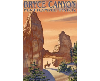 Poster de reproduction en Giclée - Bryce Canyon Tower Bridge