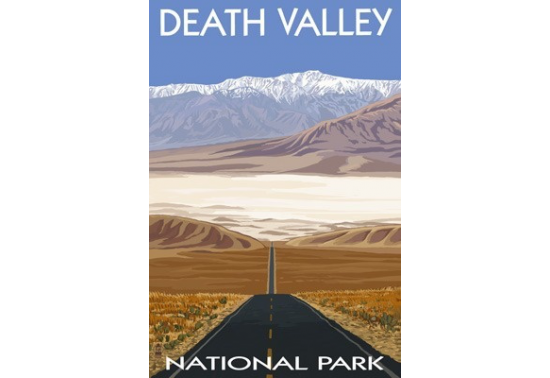 Poster de reproduction en Giclée - Death Valley Highway view