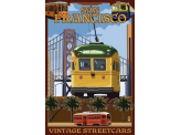 Poster de reproduction en Giclée - California Streetcars