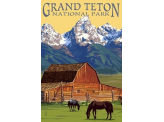 Poster de reproduction en Giclée - Grand Teton National Park