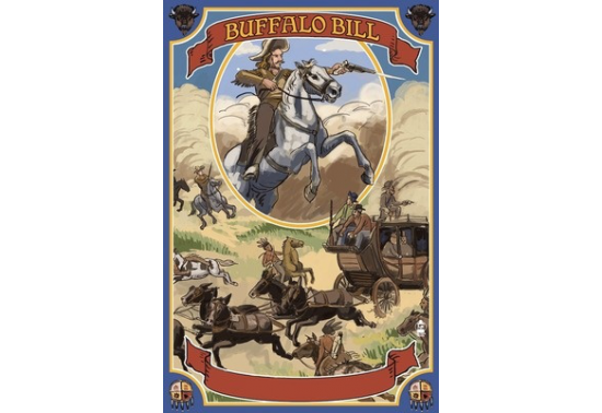 Poster de reproduction en Giclée - Buffalo Bill