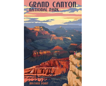 Poster de reproduction en Giclée - Grand Canyon Mather Point