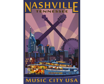 Poster de reproduction en Giclée - Nashville, Tennessee