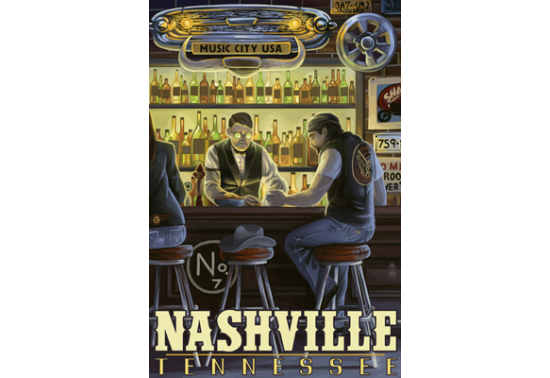 Poster de reproduction en Giclée - Nashville Salon Scene