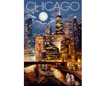 Poster de reproduction en Giclée - Chicago Illinois