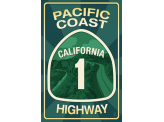 Poster de reproduction en Giclée - Pacific Coast Highway 1