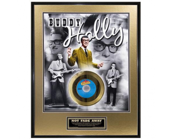 """Disque d'Or BUDDY HOLLY """"NOT FADE AWAY 50th ANNIV.GOLD"""""""