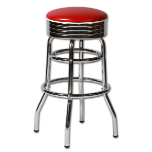 Tabouret de bar am ricain sans dossier rouge sas brust - Tabouret de bar transparent ...