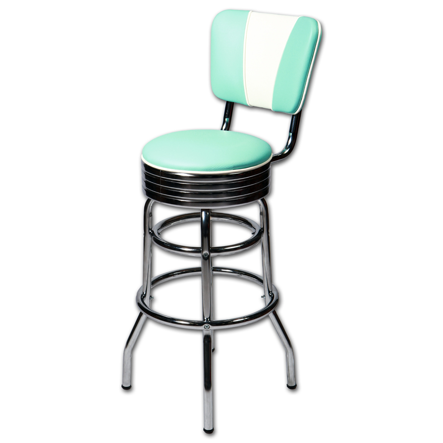tabouret de bar am ricain avec dossier coloris au choix. Black Bedroom Furniture Sets. Home Design Ideas