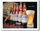 Plaque Publicitaire - Budweiser History of Bud