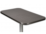 Plateau de Table Formica Charcoal Boomerang - 68.5 x 107cm