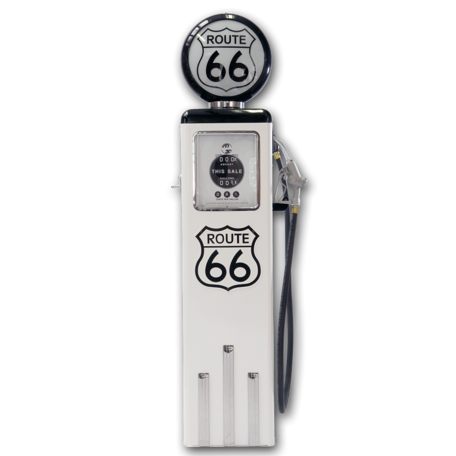 pompe essence made in usa route 66 blanche sas brust us planet. Black Bedroom Furniture Sets. Home Design Ideas