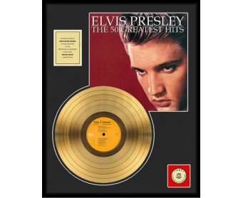 """Disque d'Or ELVIS PRESLEY """"THE 50 GREATEST HITS"""""""