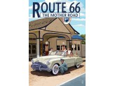 Poster de reproduction en Giclée - Route 66 Service Station