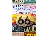Poster de reproduction en Giclée - Route - 66 License Plates
