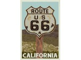Poster de reproduction en Giclée - California Route 66