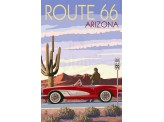 Poster de reproduction en Giclée - Arizona Route 66