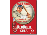Plaque Publicitaire - Babe Ruth / Red Rock Kola