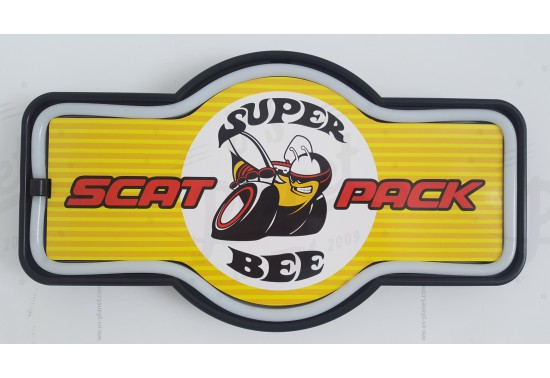 Enseigne murale à led Super Bee Scat Pack
