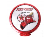 Globe de pompe à essence avec opaline Texaco Fire Chief