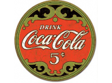 Plaque Publicitaire - COKE - Round 5 Cents