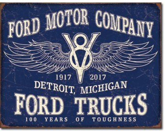 Plaque Publicitaire - Ford Trucks 100 years