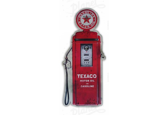 Plaque en relief Texaco Gas Pump
