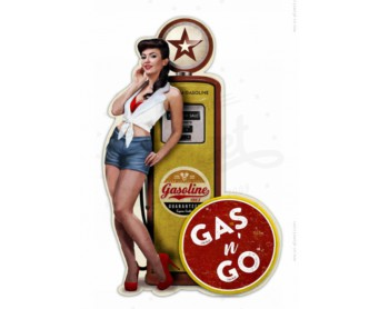 Plaque en relief Pin Up gas Pump
