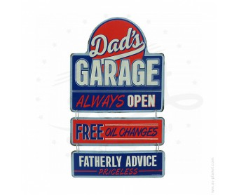 Plaque décorative Dad's Garage
