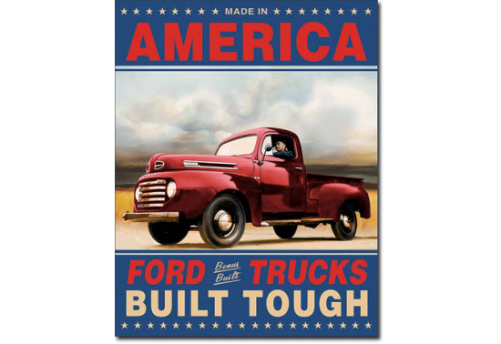 Plaque Publicitaire - Ford Trucks Built Tough