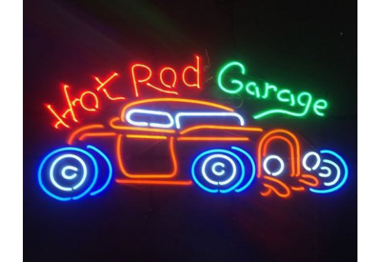 Enseigne Néon HOT ROD GARAGE