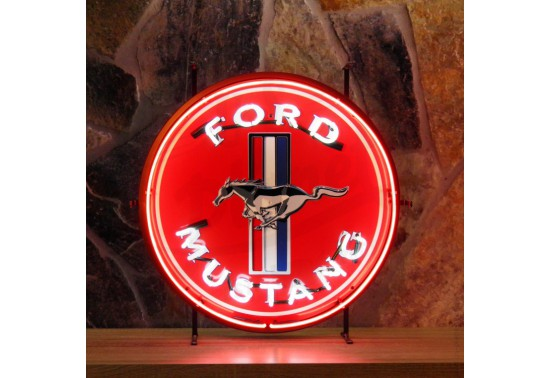 Enseigne Néon FORD MUSTANG