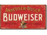 Plaque Publicitaire - Moore - Budweiser - Weathered