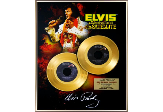 """Disque d'Or ELVIS PRESLEY """"ALOHA FROM HAWAII"""""""