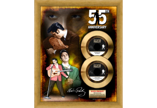 "Disque d'Or ELVIS PRESLEY ""55 ANNIV. HEART/LOVE"""