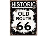 Plaque Publicitaire - Old Route 66 - Weathered