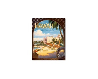 Plaque Publicitaire - Hawaii Sun and Surf