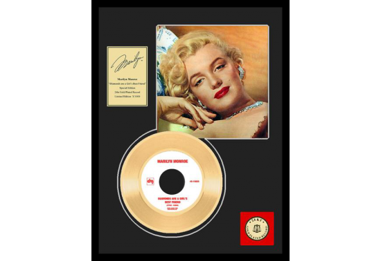 "Disque d'Or MARILYN MONROE ""DIAMONDS"""