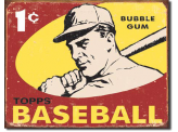 Plaque Publicitaire - Topps Baseball 1959